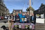 David Duguid MP at a stop the car park tax street stall